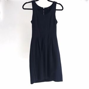 J Crew A5434  Navy Blue Pleated Flare Dress Sz 00